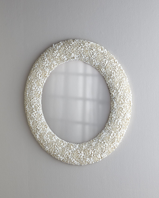 Clamrose Shell Mirror beach-style-mirrors