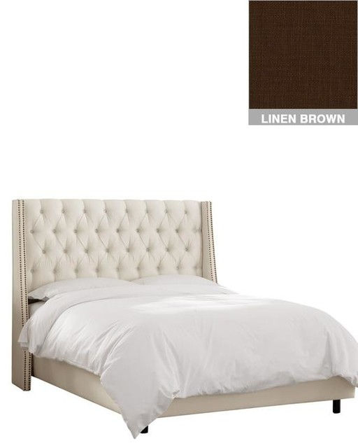 Custom Dale Upholstered Bed traditional-beds