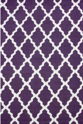 Moderna Purple Moroccan Trellis Rug modern-rugs
