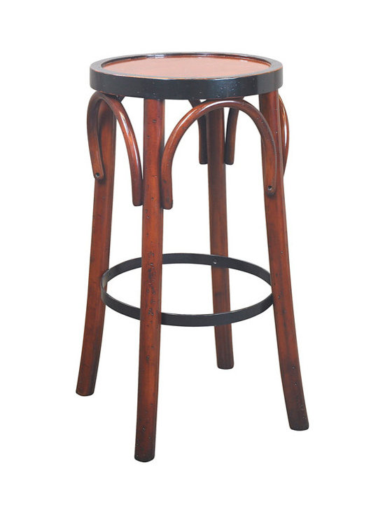 "Inviting Home - Barstool, Honey - Timeless in style and sturdy in construction many have survived ages. And this barstool will follow the same tradition when handled with love and care...; 14-3/4""dia. x 28-3/4""H The design of our tall brasserie accessory goes back to the late 19th century when bentwood furniture was developed in Vienna and exported across Europe and the rest of the world. Timeless in style and sturdy in construction many have survived ages. And this hand-made barstool will follow the same tradition when handled with love and care."