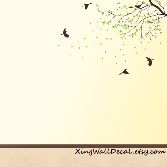 Branch Wall Decals Birds