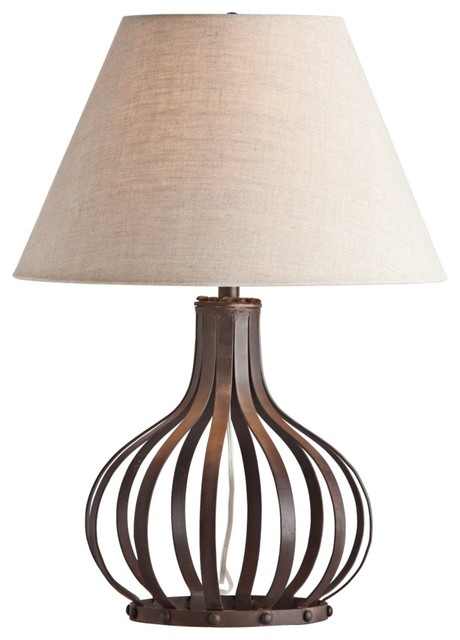 Contemporary Arteriors Home Ryland Openwork Dark Iron Table Lamp contemporary table lamps