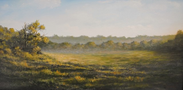Original Landscape Painting (Misty Morning) tropical-originals-and-limited-editions