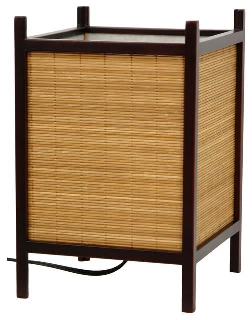 Kobayashi Japanese Bamboo Matchstick Lamp traditional-table-lamps