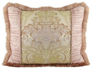 Dian Austin Couture Home Standard Pieced Sham with Brush Fringe traditional-shams