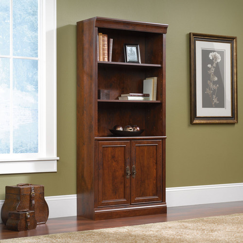 Arbor Gate Library Bookcase with Doors - Modern - Bookcases