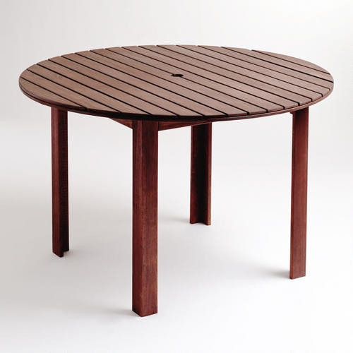 Round Bali Outdoor Dining Table Contemporary Outdoor Dining Tables By C