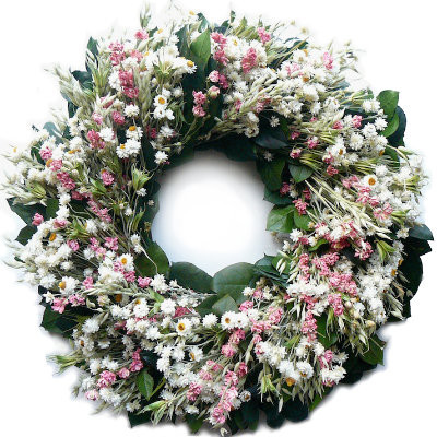 """Springtime Wreath - 30"""" dia. traditional-outdoor-holiday-decorations"""