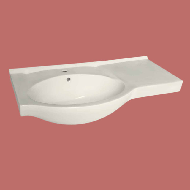 Counter Mounted Sink : Sink Basins Bone China Hudson Wall-mount/above-counter Sink Basin ...