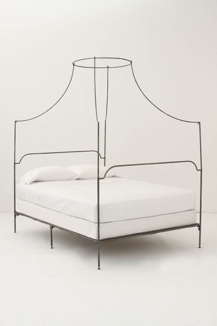 Italian Campaign Canopy Bed contemporary beds