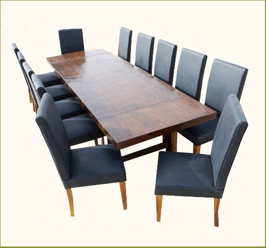 Matterhorn 13 pc transitional dining table and chair set for 12 chair dining table set