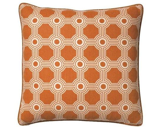 Galloway Trellis Orange Pillow -
