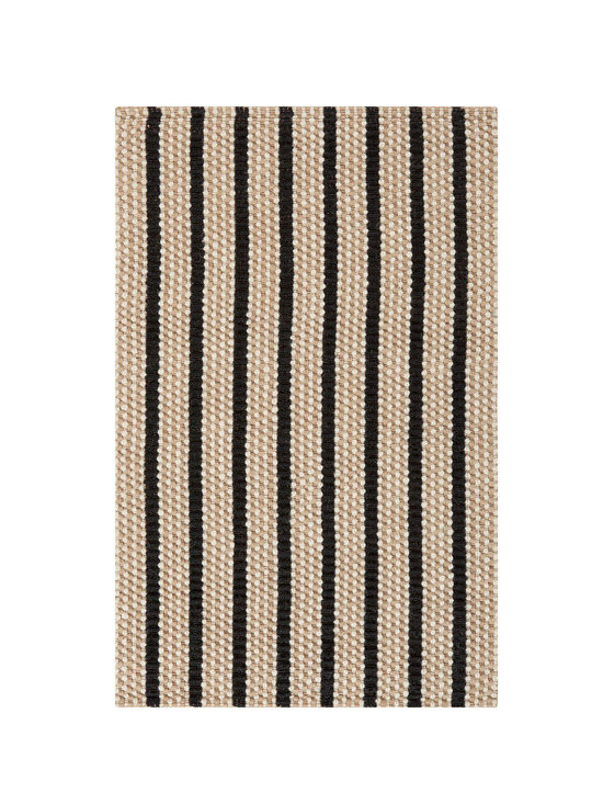 Natural Fiber Rugs & Carpets - Made of 100% jute.  Black & cream striped jute  rug.  Offered in standard and custom sizes.  Purchase from Hemphill's Rugs & Carpets Orange County, CA www.RugsAndCarpets.com