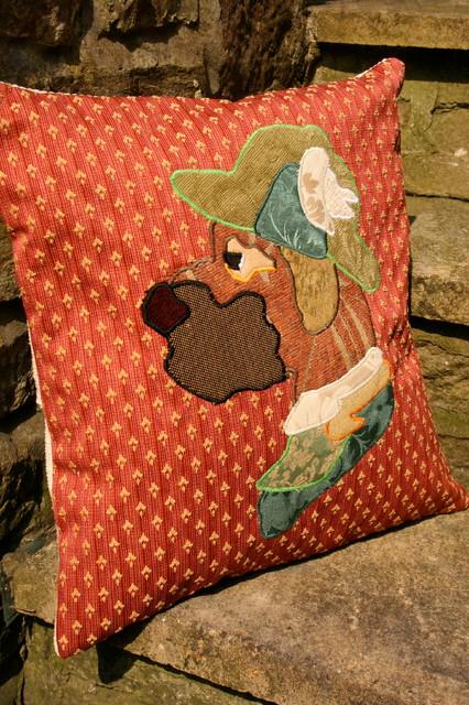 Red Hound Untamed Portraits Bye Brytshi decorative-pillows