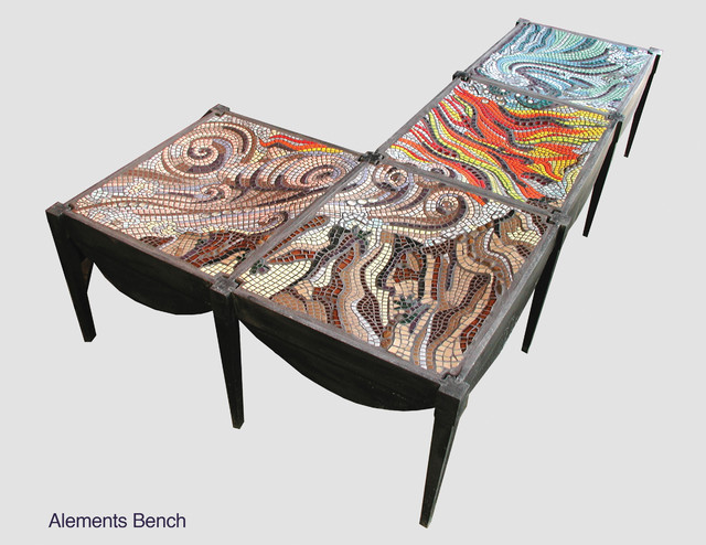 Elements Bench — Mosaic contemporary-indoor-benches