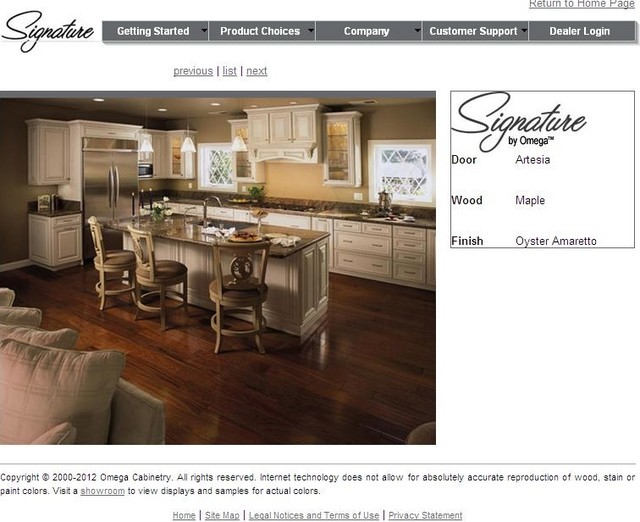 Signature by omega traditional kitchen cabinetry Omega kitchen design center