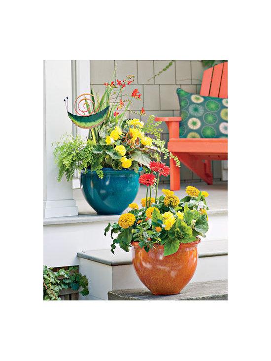 Self Watering Marbled Bowl Planters -