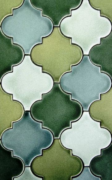Arabesque eclectic kitchen tile