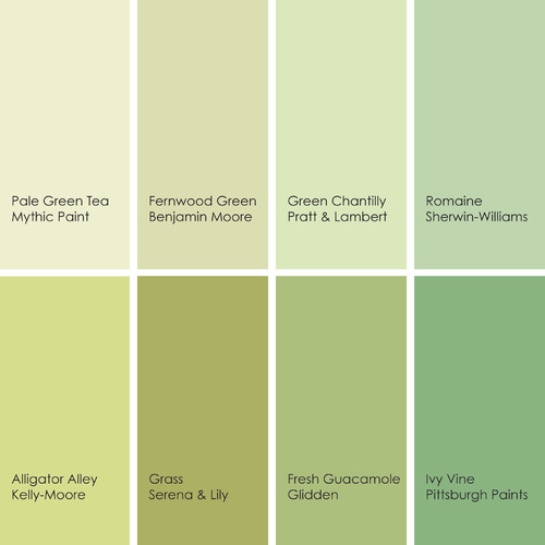 Light Green Paint Colours: So Many Shades Of Green, Forrest . . .