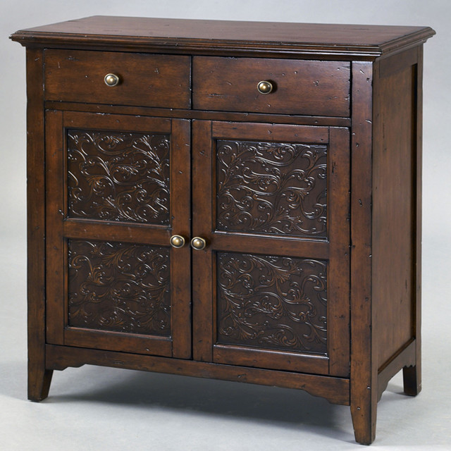 ... Metal Front Brown Accent Chest contemporary-accent-chests-and-cabinets
