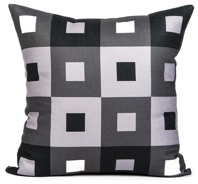 Black And White Decorative Throw Pillows :