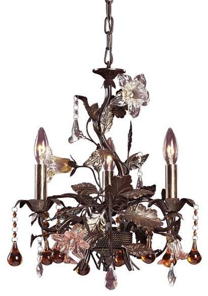 Elk Lighting 85001 3 Light Mini Chandelier Cristallo Fiore Collection chandeliers
