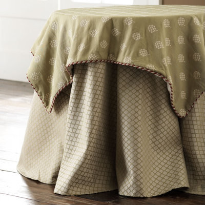 Spring Grove with Braided Trim Square Topper traditional-tablecloths
