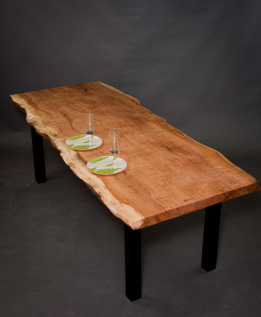 Figured Reclaimed Maple Dining Table Modern Dining Tables Seattle By