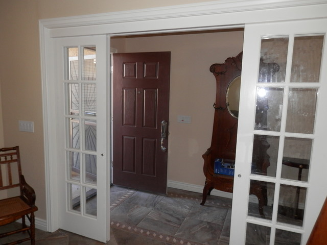Sliding interior French doors traditional-windows-and-doors