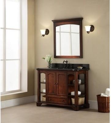 Xylem Wyncote 49-in. Single Bathroom Vanity with Optional Mirror modern-bathroom-vanities-and-sink-consoles