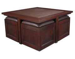 Hammary Kanson Square Coffee Table traditional-coffee-tables