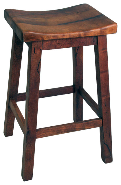Mesquite Saddle Seat Bar Stool Rustic Bar Stools And