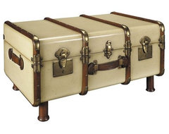 Authentic Models Stateroom Coffee Table Trunk - Ivory eclectic coffee tables