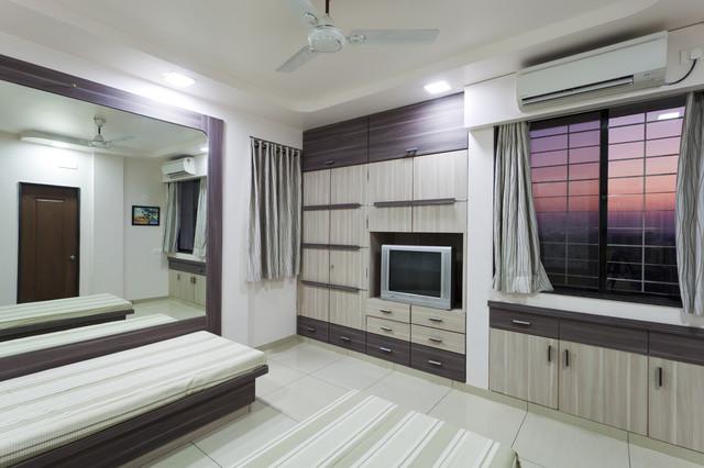 TOP FLOOR SINGLE FLAT contemporary-bedroom