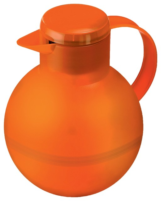 Samba For Tea, Translucent Orange contemporary-serveware
