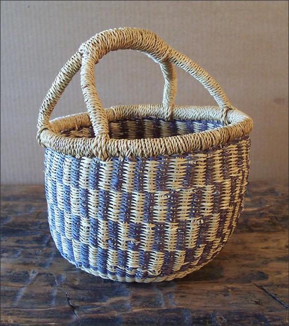 Sweet Woven Grass Basket eclectic-home-decor
