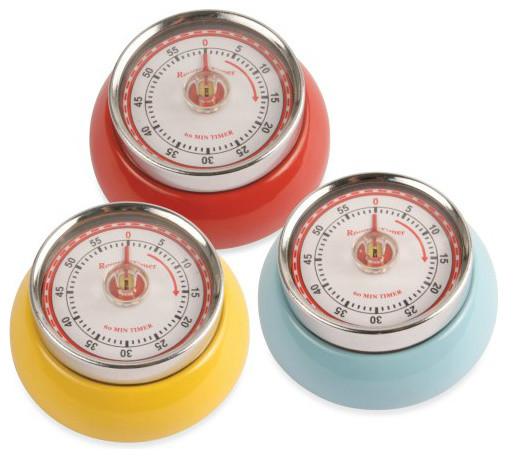 Kikkerland Magnetic Retro Kitchen Timers timers-thermometers-and-scales