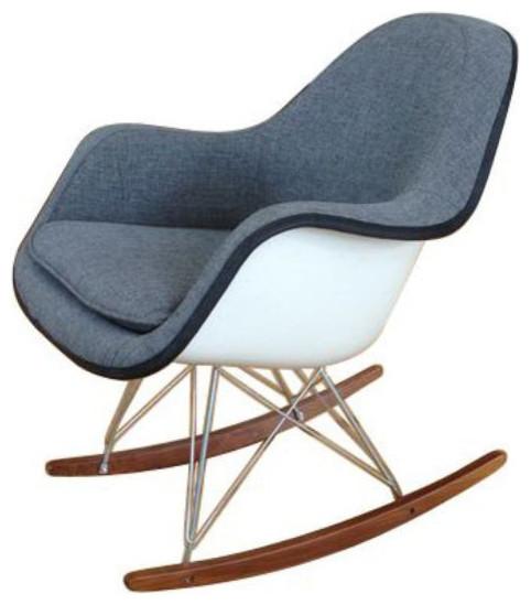 Sold out white eames fiberglass rocker 700 est retail 400 on chairish - Eams rocking chair ...