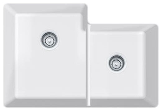 Fireclay Under mount Double Bowl Sink - Modern - Kitchen Sinks - by ...