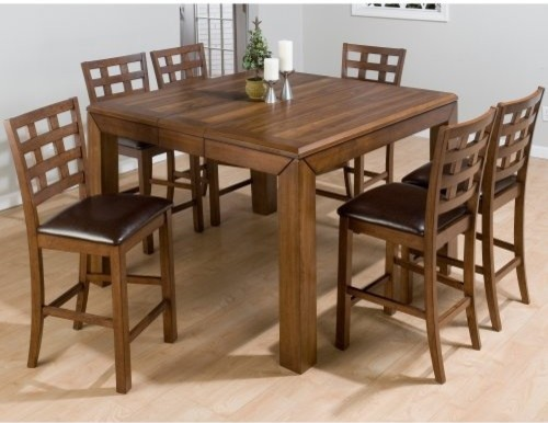 Square Counter Height Dining Set Contemporary Dining Tables By