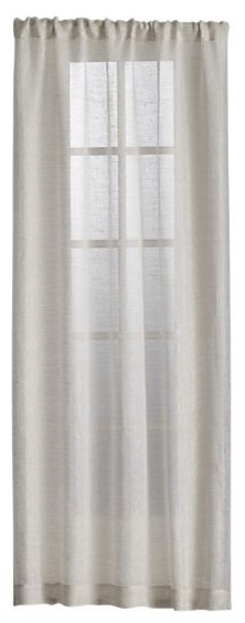 Natural Linen Sheer 52x96 Curtain Panel contemporary-curtains
