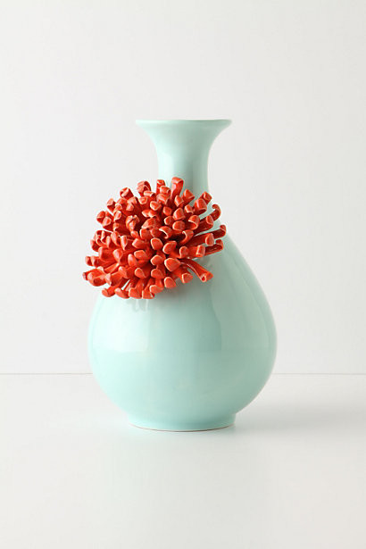 Curvy Chrysanthemum Vase contemporary vases
