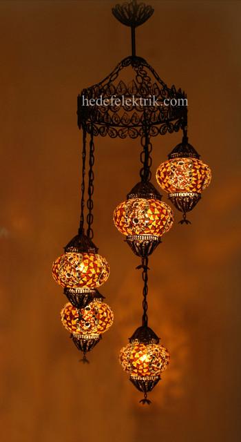 Turkish Style - Mosaic Lighting eclectic-chandeliers