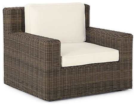 Hyde Park Outdoor Lounge Chair with Cushions - Arch Barley, Special Order - Fron traditional-outdoor-chaise-lounges