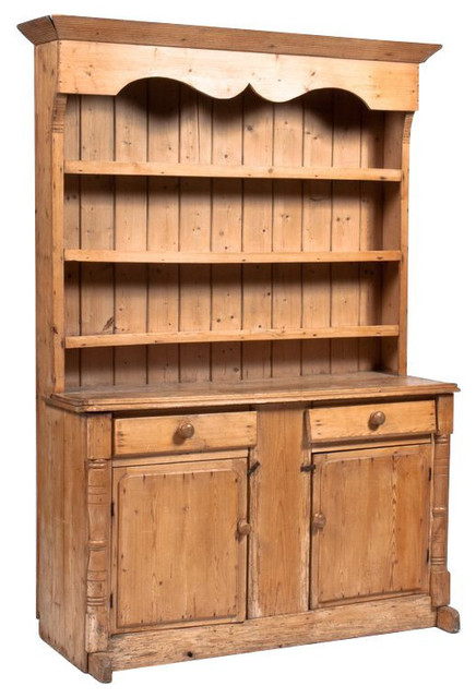 SOLD OUT! Antique Irish Pine Hutch - $3,950 Est. Retail - $1,150 on Chairish.com