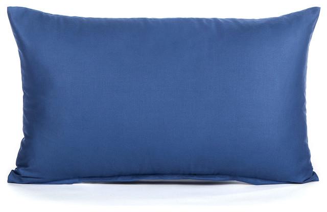 Blue Lumbar Throw Pillow : Solid Dark Blue Lumbar Pillow Cover 12