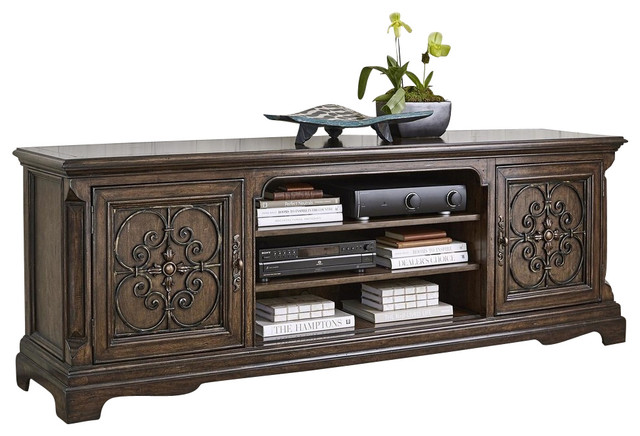 "New Ambella Home 84"" Media Cabinet Madrid - Traditional - Media Storage - by EuroLuxHome"