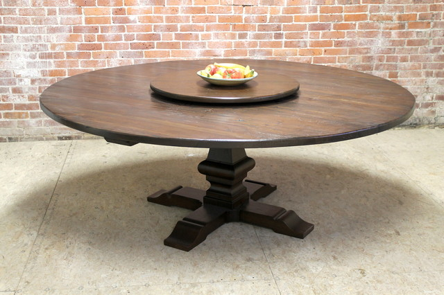 80 Large Round Table With Pedestal And Lazy Susan