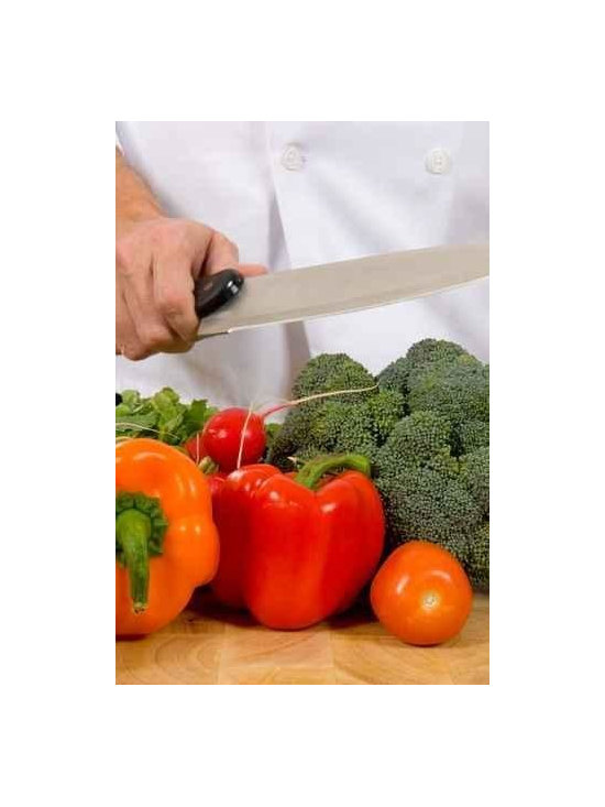 Wallmonkeys Wall Decals - Fresh Vegetables on Cutting Board with Knife Wall Mural - 24 Inches H - Easy to apply - simply peel and stick!