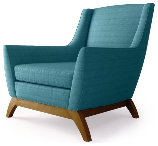 Coolidge Chair Lucky Turquoise Contemporary Armchairs